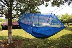 amazon com single u0026 double camping hammock with mosquito bug net