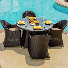 6 Person Patio Dining Set - providence 5 piece resin wicker patio dining set by lakeview