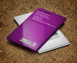 Purple Business Cards Professional Business Cards Design Design Graphic Design Junction