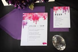 Invitations For Weddings Watercolour Splash Wedding Invitation Impressions U2013 Custom