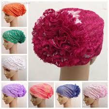 flower hair bun wholesale wb0367 bun flower lace cap bag hair disk flower hat