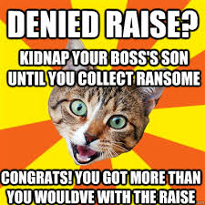 Denied Meme - denied raise cat meme cat planet cat planet
