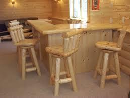 Rustic Bars Custom Log Bars And Barstools By Viking Log Furniture Custommade Com