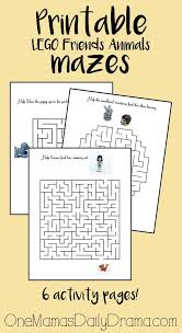 free printable lego maze lego friends animals activity book of mazes free printable puzzles