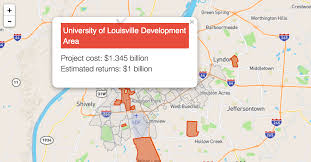 Map Of Louisville Ky Where U2014 And How Much U2014 Louisville Is Helping Fund Private Projects
