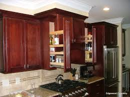 kitchen stunning light walnut wood kitchen cabinet pull out spice