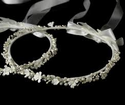 orthodox wedding crowns lovely flower pearl stefana wedding crowns item abb hp 8016