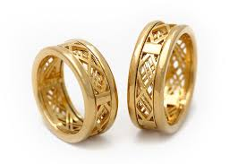 gold bands rings images Matching wedding bands wedding band set gold gold bands 14k jpg