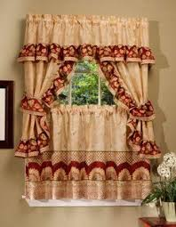 excellent kitchen curtains in a rustic style kitchen curtains