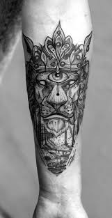 black lion king tattoo inkstylemag