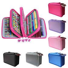 4 layer large capacity pencil bag case makeup desk storage