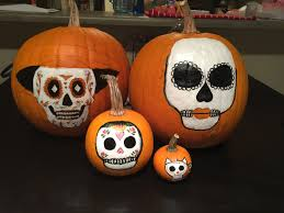 sugar skull painted pumpkins for halloween u2013 abbey co