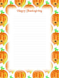 free printable thanksgiving lined stationery money savers