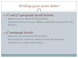 creating a cover letter