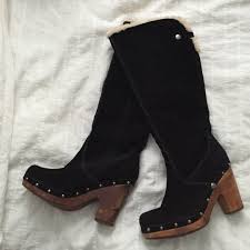 ugg australia clogs sale ugg clog style knee high shade fur boots ugg clogs fur boots