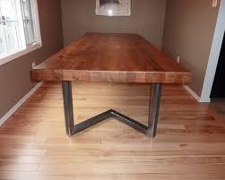 Oak Slab Table by Reclaimed Red Oak Slab Table