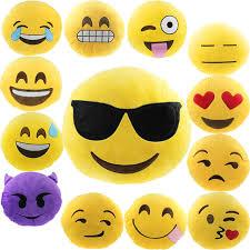 smiley bureau maison de voiture bureau accessoire emoji smiley mignon coussin