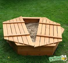 Sandboxes With Canopy And Cover by Hexagonal Sandpit Wooden Lid Big Game Hunters