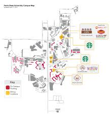 Fsu Campus Map Dining Locations Ferris State University