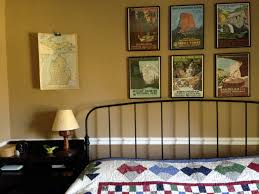 vintage travel themed master bedroom magpie jaybird and mew