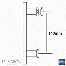 Glass Shower Door Handles Replacement by 140mm Shower Door Handle 14cm Hole To Hole Stainless Steel