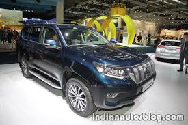 toyota land cruiser 2017 2018 toyota land cruiser prado facelift front three quarters at