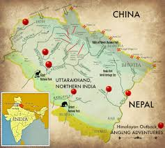 Himilayas Map Angling Adventures Himalayan Outback The Himalayan Outback