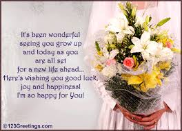 wedding wishes to niece wishing you and happiness always free wishes ecards greeting