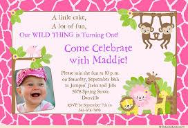 pink giraffe photo invitation jungle safari birthday