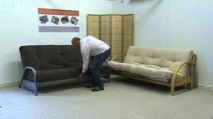 Sofa Bed Futon Metal Clic Clac Futon Vs Hardwood Futon Sofabed Youtube