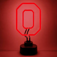 Neon Desk Lamp Ohio State University Neon Sign Buckeyes Man Cave Gifts