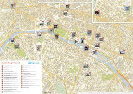 Metro Map Paris by Central Paris Metro Map Inside Of Paris Tourist Attractions 2