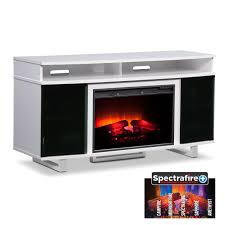 pretty white fireplace tv stand on center ventless electric indoor