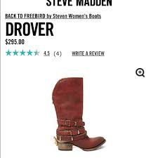 steve madden s boots size 11 55 steve madden shoes reduced freebird drover boots