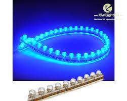 blue led strip lights 12v pvc led strip ip68 waterproof dc 12v 24v kiwi lighting