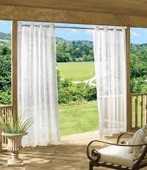 Outdoor Curtains With Grommets Outdoor Escape Solid Grommet Top Sheer Outdoor Curtain By