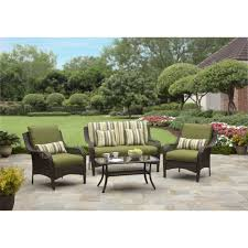 Walmart Patio Furniture Wicker - better homes and gardens amelia cove 4 piece woven patio