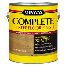Complete Home Interiors Minwax 1 Gal Complete 1 Step Floor Finish Autumn Wheat Satin