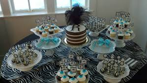 home decor for man black and white pops to go with the 40th birthday party decor