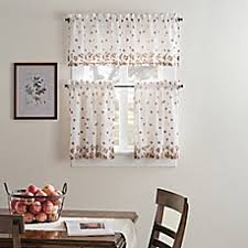 Burnt Orange Kitchen Curtains by Kitchen U0026 Bath Curtains Bed Bath U0026 Beyond