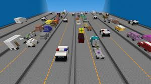 minecraft car pe motor course