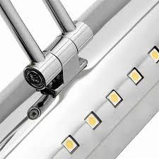led bending tube light bathroom bedroom adjustable mirror cabinet