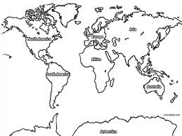 coloring page world map 7804