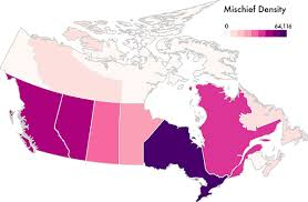 canadian map population distribution maps showing the uw interactive data lab