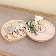 personalized cheese board set personalized gourmet 5 cheese board set with utensils