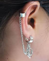 cuff piercing chain ear cuffs piercing