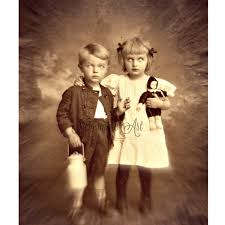 creepy halloween boy vintage photo victorian vintage
