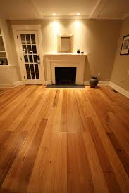 house interior with fireplace and chestnut wood flooring using