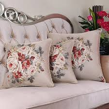 Large Bed Pillows Chinese Luxury Jacquard Pillow Cushion Wind Farm Sofa Lumbar Back