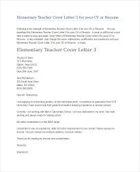 elementary teacher cover letter examples substitute teacher
